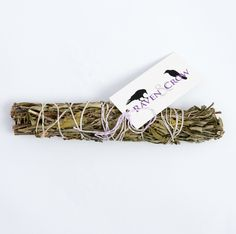 Lavender is said to provide a calming effect. Use this smudge stick before bed to welcome sweet dreams! 7-8 inches. Not eligible for return.