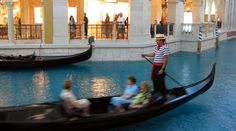 Gondola Ride on the Grand Canal at the Venetian Hotel in Las Vegas, NV.