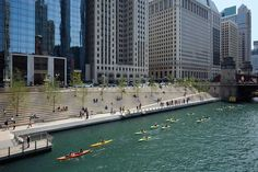 Chicago Department of Transportation, Ross Barney Architects, Sasaki, Jacobs Ryan Associates, Alfred Benesch & Company - Chicago Riverwalk, 2015