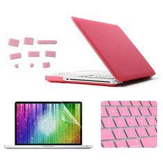 ENKAY Matte Protective Shell Keyboard Cover Screen Film Anti Dust Plug Set  For Macbook Pro 13.3 b233e827ef