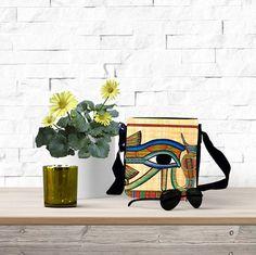 Eye of Horus - Mini Messenger Bag - Printed Bags - Hand Bags - Shoulder Bags for Women - Small Shoulder Bag - Hip Bag - Mini Messenger Bag