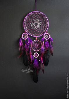 """Hunters handmade dreams.  Fair Masters - handmade.  Buy Dreamcatcher """"Hekidonmuya"""".  Handmade.  Purple, mascot"""