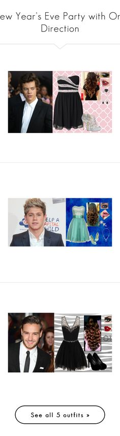 """New Year's Eve Party with One Direction"" by simmy-patel313 ❤ liked on Polyvore featuring Oneness, ALDO, Ice, Elise Dray, Laona, Tom Binns, Chi Chi, Qupid, Payne and David Tutera"