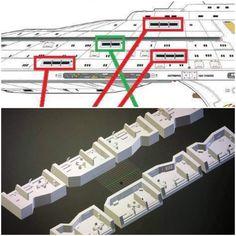 Star Trek Models, Sci Fi Models, Enterprise Model, Star Trek Ships, Star Trek Voyager, Science And Nature, Scale Models, Modeling, Map