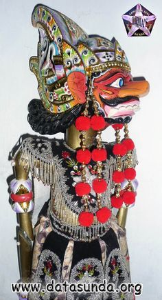 Wayang   Wayang Golek - Rahwana - koleksi dari Ujang Wayang (Eman Sulaiman)