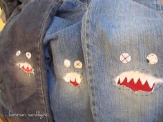 ==>DIY Knee Patches Monster knee patch tutoria