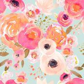 INDY BLOOM BLUSH Florals BLUE B by indybloomdesign