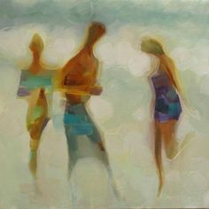 FIGURATIVELY SPEAKING 21x21 oil on linen  by Brian Cameron