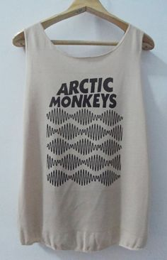 Arctic Monkeys Tank top Pop Punk Rock Tank Top Vest Women Indy T shirt lady T-Shirt Size S,M,L