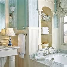 Anything antique or old will automatically build country style bathrooms. Country style Bathrooms are welcoming, unpretentious, friendly and practical. Spa Bathroom Design, Seaside Bathroom, Coastal Bathroom Decor, Bathroom Spa, Simple Bathroom, Bathroom Styling, Bathroom Ideas, Modern Bathroom, Master Bathrooms