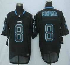 Tennessee Titans Jersey 8 Marcus Mariota Nike Lights Out Black Elite Jerseys