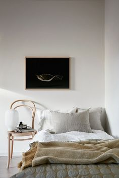 Bedrooms with black art