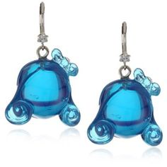 "Harajuku Lovers ""Lucite Girls"" Blue Lucite Queen Shaped Drop Earrings $15"