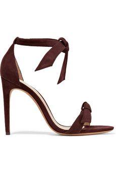 f1ffe4d9c Clarita bow-embellished suede sandals Black High Heel Sandals
