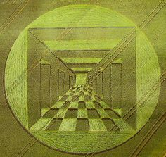 Crop Circle 2007 by janet7r, via Flickr - Shows a design in a wheat field at Silbury, Wiltshire. Newspaper picture.