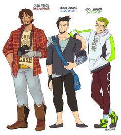 Genji is soo third wheeling Hanzo and Mccree are looking at each other Overwatch Hanzo, Overwatch Comic, Overwatch Memes, Overwatch Fan Art, Genji Shimada, Hanzo Shimada, King's Quest, Shimada Brothers, Genji And Hanzo