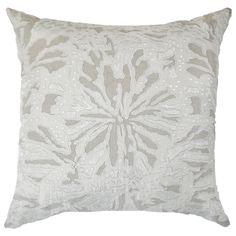 Bandhini Homewear Design Butterfly Linen Cream Throw Pillow @LaylaGrayce
