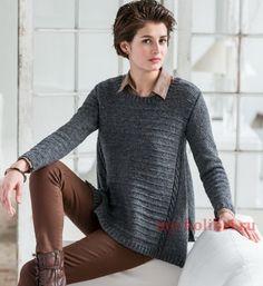 Вяжем свитер спицами модного покроя: схема и описание на Колибри. Удобный, лёгкий, и достаточно тёплый, этот свитер станет одним из ваших любимых.