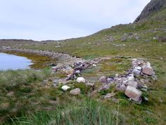 The foundations of the 13th century Norse church at Herjolfsnes in southern Greenland can still be seen.