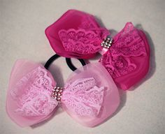 Hair Bows - Lace and Tulle Bow - $1.99 each