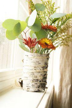 Birch Bark Vase