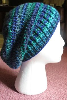 Neely Slouchy Hat By Kristina Olson - Free Crochet Pattern - (ravelry) I love this yarn!
