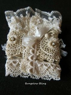 vintage+lace+cuffs | French Inspired Vintage lace cuff by Bungalow Bling ... | Bracelets