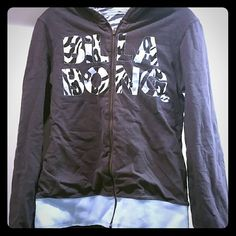 Reversible Mint blue & gray zebra Billabong jacket Only worn a few times. Reversible with pockets in the front. Billabong Jackets & Coats Vests