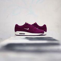 best service efde5 5e52f Nike Air Max 1 premium SC Jewell women Bordeaux-Blur