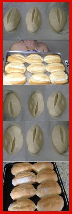 - How to make FRENCH BREAD HOME. Beat the dough for 10 minutes (can be made in the blender with the kneading hook ) to remove the dough from the sides of the bowl, sprinkling with flour. Take the bo … Pan Bread, Bread Cake, Bread Baking, Bread Recipes, Cooking Recipes, Mexican Bread, The Bo, Mini Pizza, Pan Dulce