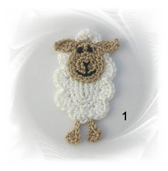 Get this free crochet sheep pattern. Learn how to make this sheep appliqué.href = 'h Marque-pages Au Crochet, Crochet Sheep, Easter Crochet, Crochet Animals, Crochet Crafts, Crochet Toys, Crochet Baby, Crochet Projects, Applique Patterns