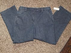 Size 8 Stretch blue denim jeans Talbots Women casual jean Pants NWT Ladies Slack #Talbots #CasualPants