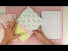 Cómo hacer una libreta con tapas intercambiables. La vuelta al cole 2015 - YouTube