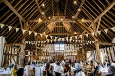 Wedding breakfast at Clock Barn photo: Lydia Stamps Photography