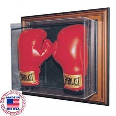 Showing your passion toward your favorite boxer can be tricky. You are probably not lucky enough to get his pair of gloves, unless you know someone. However, if you truly want a collectible, you can buy a set of gloves, then get them signed by your favorite boxer. They can make your day whenever you check them out too. Now, where do you properly display them? Simple! This double boxing glove display case is wall mountable and comes with optional mirror backing.