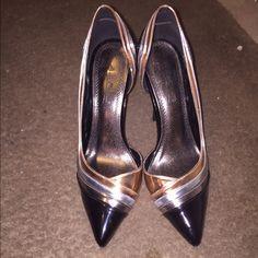 Bronze black and silver heels Never worn Bronze black and silver heels Anne Michelle Shoes Heels