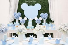 Blue Mickey Mouse Inspired Baby Shower                                                                                                                                                                                 More