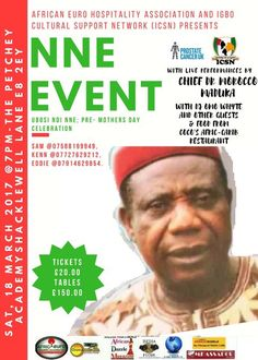 African Euro Hospitality Association proudly presents an evening with Morocco Maduka in London, March, 18!