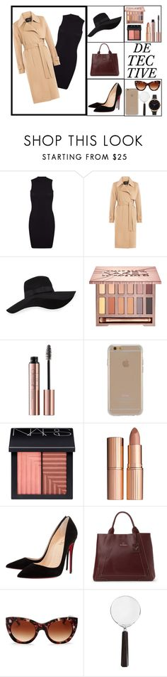 """""""Female Detective"""" by dilsad-cangr on Polyvore featuring moda, Miss Selfridge, Theory, San Diego Hat Co., Urban Decay, Agent 18, NARS Cosmetics, Charlotte Tilbury, Christian Louboutin ve Mario Valentino"""