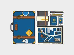Busbud Illustration Series on Behance
