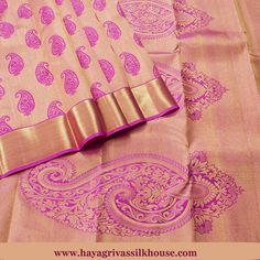#Pink is the color of #joy and #creativity. Buy traditional #kanjipuram wedding #silk sarees online at #Hayagrivas silks. Light Pink Traditional silk saree with pink mango motifs on body and pallu with zari piping border. Shop our wide range of collections of #Kanchipuram Silks available Hayagrivas #Silksarees #Weddingsilks #Traditionalsilks #Pattusarees Visit us: https://www.hayagrivassilkhouse.com/saris/1597.html Call us: 91 9840582892