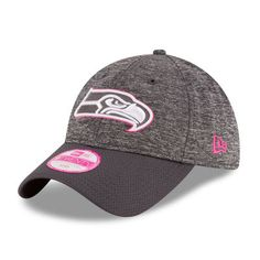 Women's Seattle Seahawks New Era Heather Gray 2016 Breast Cancer Awareness Sideline LS 9TWENTY Adjustable Hat. $25.99. (NFL store)