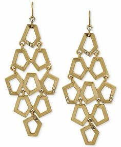 Kenneth Cole New York Gold-Tone Geometric Crystal Chandelier Earrings - Fashion Jewelry - Jewelry & Watches - Macy's