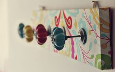 12 Creative DIY Coat Racks A round-up of some really great coat rack projects with lots of tutorials! Including this artsy fabric covered coat rack project from natalia rosin.