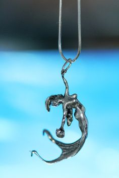 Meerjungfrau Kette solid Sterling antik Finish 18 von billyblue22, $80.00