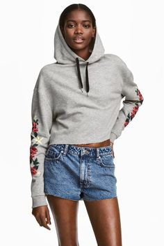 Denim shorts - Blue washed out - Ladies   H&M GB
