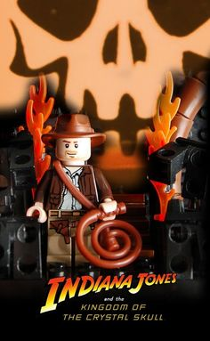 Lego Movie Poster: Indiana Jones And The Kingdom Of The Crystal Skull Lego Film, Lego Tv, All Lego, Lego Movie, Lego Indiana Jones, Indiana Jones Adventure, Lego Humor, Lego Universe, Cool Lego Creations