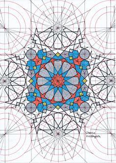 Mathematics Geometry, Geometry Art, Sacred Geometry, Pattern Drawing, Pattern Art, Pattern Design, Art Patterns, Geometric Patterns, Islamic Art Pattern