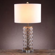 Lampa stołowa z abażurem - AlmiDecor - Almi Decor