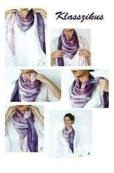 10 ways to tie a scarf in a beautiful and unusual way (with step-by-step .- 10 способов красиво и необычно завязать шарф (с пошаговыми фото) 10 ways to beautifully and unusually tie a scarf (with step-by-step photos) so that everyone wants the same Ways To Tie Scarves, Ways To Wear A Scarf, How To Wear Scarves, Scarf Knots, Tie A Scarf, Square Scarf Tying, Hooded Raincoat, Neck Scarves, Fashion Beauty